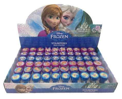 Frozen Giveaways - 12pc disney frozen anna elsa olaf sters self inking birthday party favors ebay