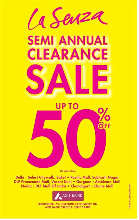 La Senza Gift Card Where To Buy - la senza semi annual clearance sale sale offer and discount shopping deals only