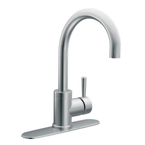 kitchen sink faucets lowes shop moen level chrome 1 handle high arc sink counter