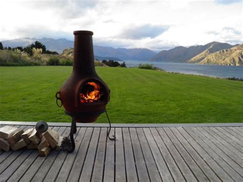 chiminea outdoor fireplace nz cast iron chimineas grape vine style