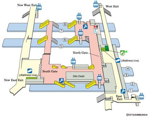jr east guide maps for major stations osaki station