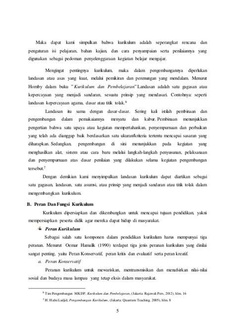 Kurikulum Dan Pembelajaran Wina Sanjaya makala telaah kurikulum pada sd mi kelas 6 desa tanjung selamat aceh