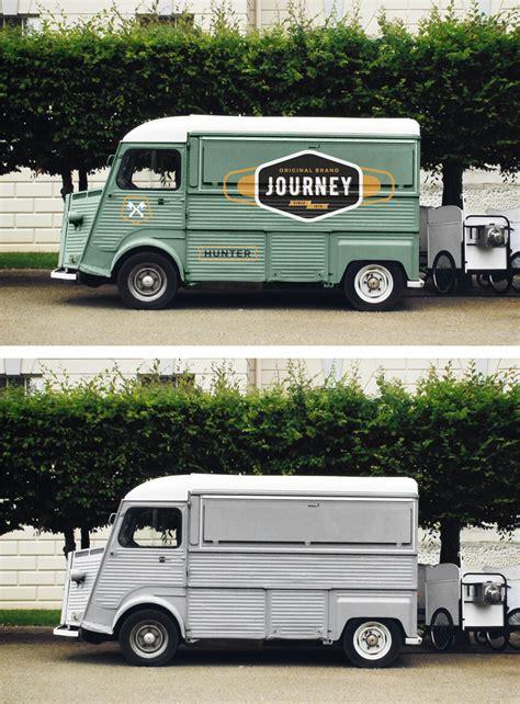 truck free free food truck mockup uxfree com