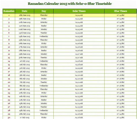 Islamic Calendar 2015 Usa Ramadan 2015 Calendar Start Date In Pakistan