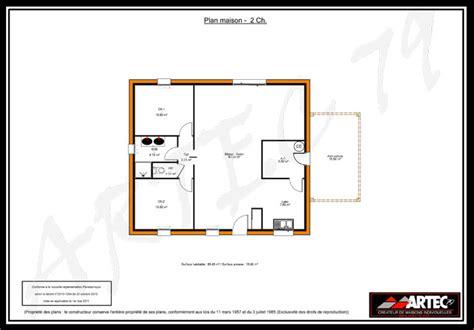 plan maison 2 chambres gratuit