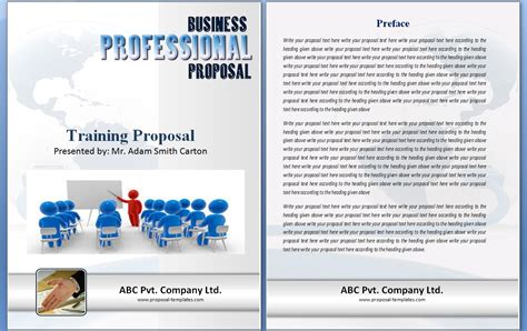 training proposal template word templates