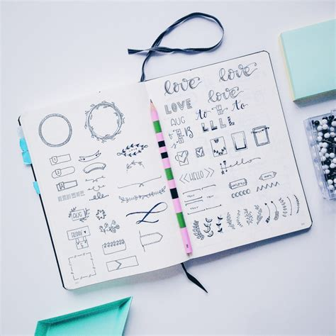 daily doodle inspiration bullet journal inspiration for a pretty planner
