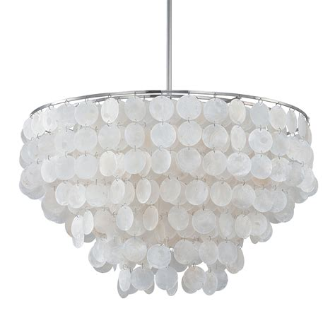Capiz Shell Chandelier Lighting Outdoor