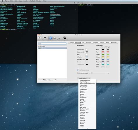 iterm2 color schemes macos os x terminal colors stack overflow