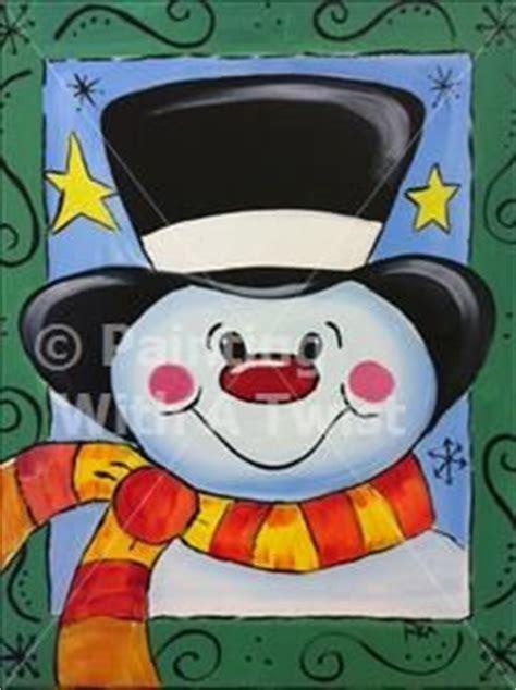 paint with a twist rock ar snowmen on snowman snowman and