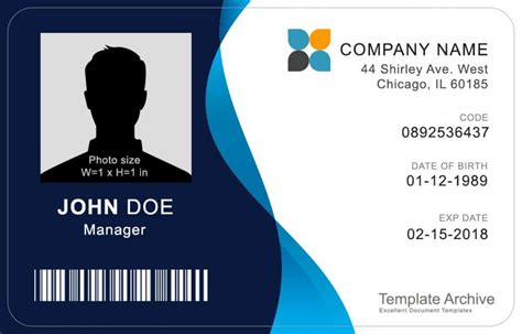 16 Id Badge Id Card Templates Free Template Archive Id Badge Template