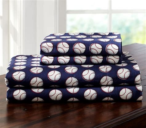 Pottery Barn Corporate Rugby Recess Sheet Set Twin Baseball Pottery Barn Kids