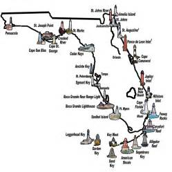 lighthouses map florida lighthouses map
