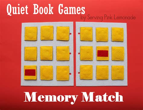 serving pink lemonade quiet book games part 4 memory