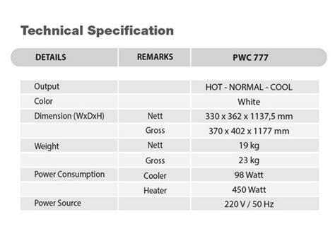 Khusus Gojek Mito Dispenser Md 777 Galon Bawah cek harga polytron dispenser air galon bawah pwc 777 putih khusus jabodetabek lengkap