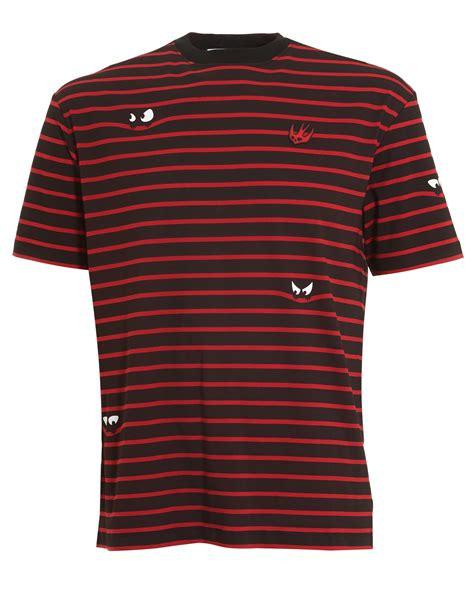 pattern shirts uk mcq by alexander mcqueen mens monster stripe pattern t