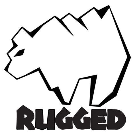 rugged logo logo design rugged clothing line on behance