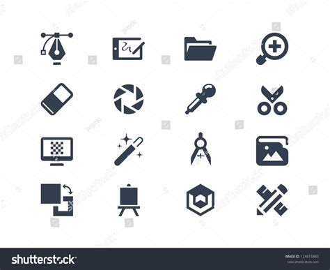 layout vector icons graphic design icons stock vector illustration 124815883
