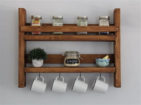Shelf Mug Rack by Coffee Mug Rack With Storage Kitchen Storage