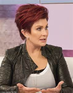 back view of osbourne haircut sharon osbourne claims simon cowell wants skinny and