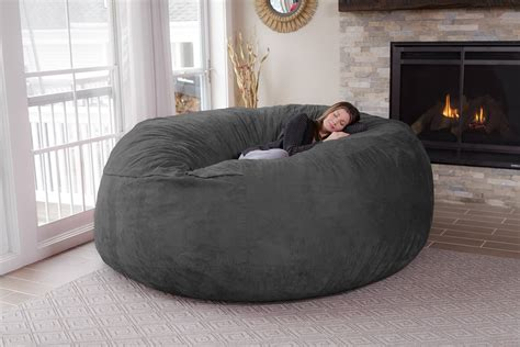 comfortable bean bag chairs 8 feet jumbo bean bag chair for comfortable seating home