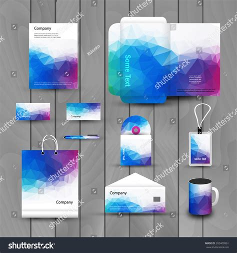 corporate id card design template corporate brand business identity design template stock
