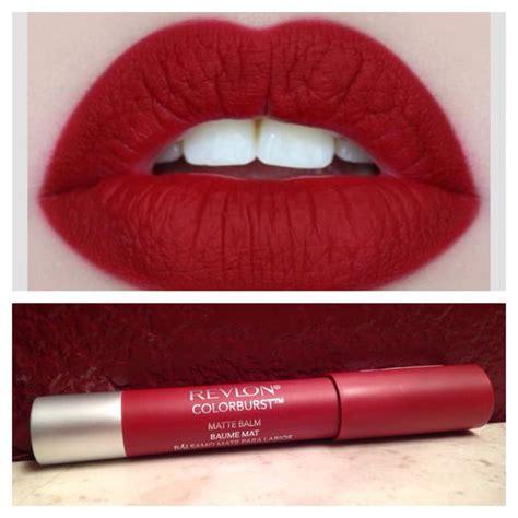 The Balm Lipstick Lipstik Matte 806 matte revlon colorburst and revlon on