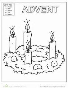 advent wreath coloring page catholic worksheets education com