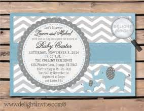 baby shower invitations with elephants eysachsephoto