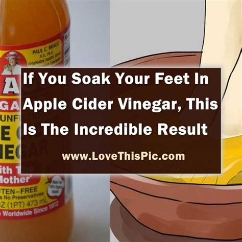 Apple Cider Vinegar Baking Soda Listerine Foot Detox by Soak Your In Apple Cider Vinegar And You Will