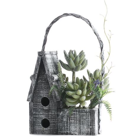 shabby chic craft supplies shabby chic succulent birdhouse birds butterflies