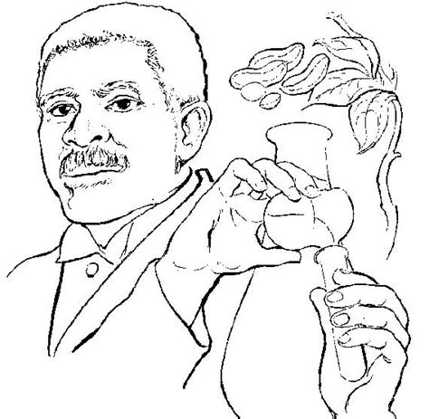 George Washington Carver Coloring Pages black history coloring pages coloring pages to print
