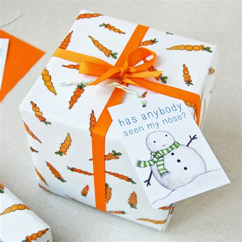 gift wrap set carrot wrapping paper set festive gift wrap