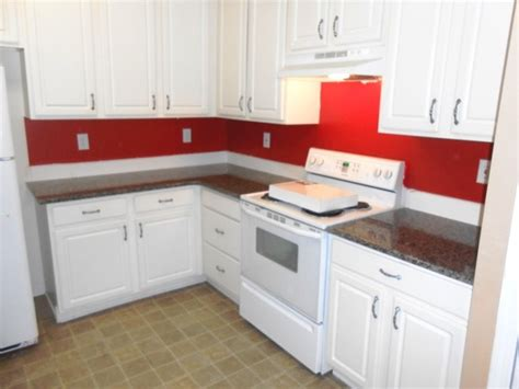 Red And White Curtains For Living Room Caledonia Granite For White Cabinets Traditional