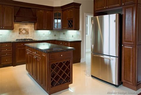 dark cherry wood kitchen cabinets pictures of kitchens traditional dark wood cherry