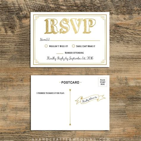 17 Best Images About Wedding Invitations On Pinterest Rsvp Postcard Template