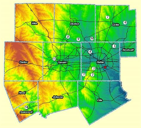 elevation map texas texas map elevation