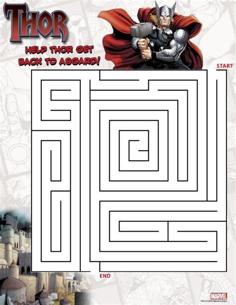 printable batman maze thor maze http www great kids birthday parties com