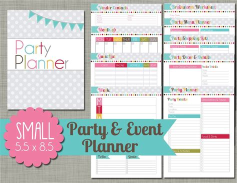 5 best images of party event printable planner party the polka dot posie planners