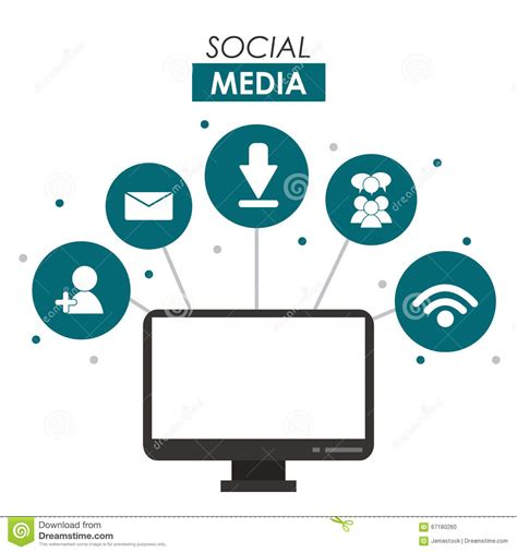 design graphics for social media social media design stock vector image 67180260