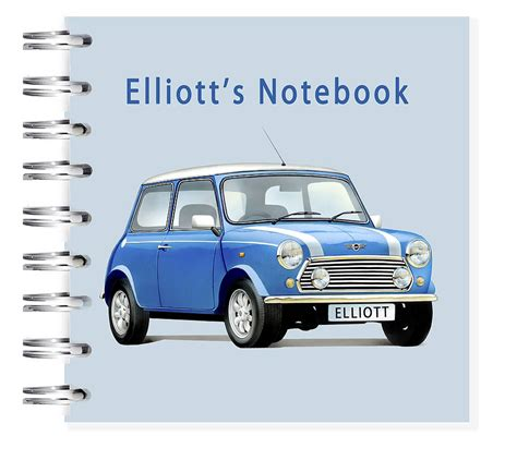 Minis Hit The High St by Mini Cooper Car Notebook By Amanda Hancocks