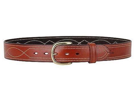 ross leather fancy stitch dress belt 1 1 2 brass buckle