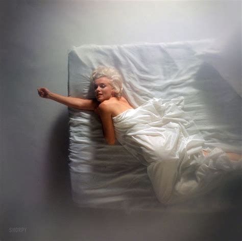 marilyn monroe in bed 1961 quot marilyn monroe posed on a bed under white sheets