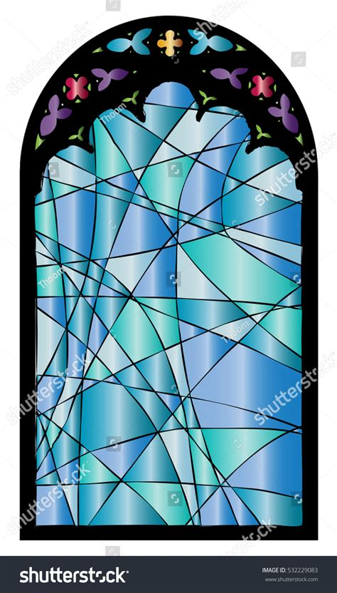 glass design elements 25 vector church stained glass gothic window vector stock vector