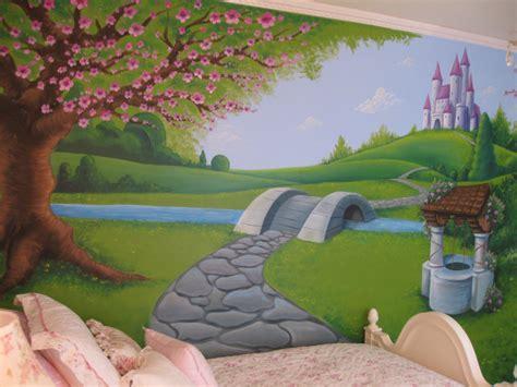 Disney Princess Wall Murals princess girls wall mural hand painted bedroom wall