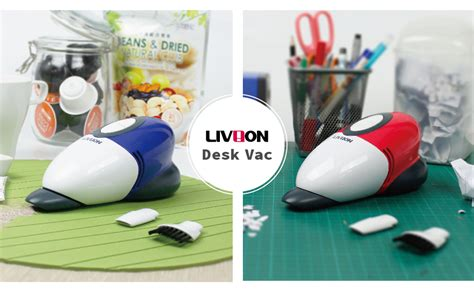 Cordless Desk L by Livion Mini Desk Vacuum Cleaner Handheld