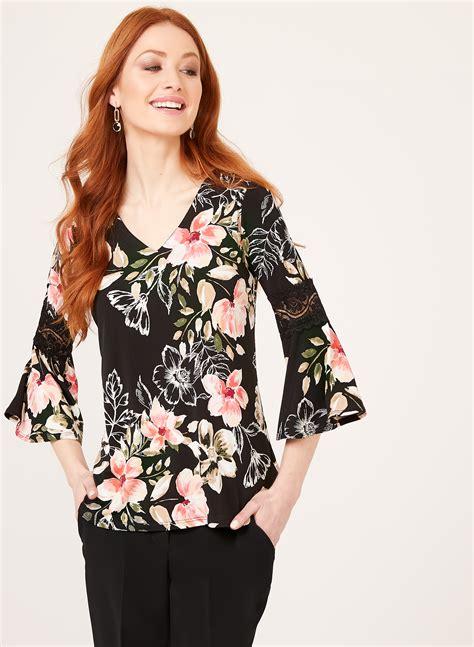 Sleeve Print Blouse sleeve floral print blouse