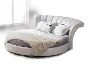 Round Leather Bed Round White Leather Bed Venetian