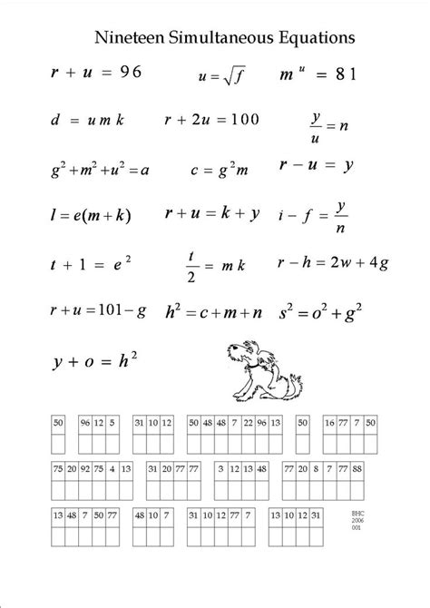 equations puzzle worksheet 1000 images about maths simultaneous equations on the two smooth and crossword