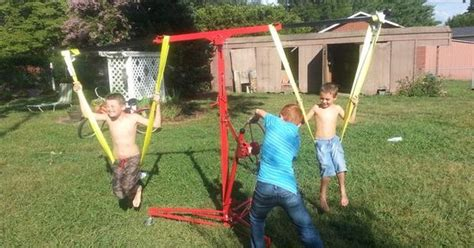 my wife swings diy children s carnival style swing ride this simple